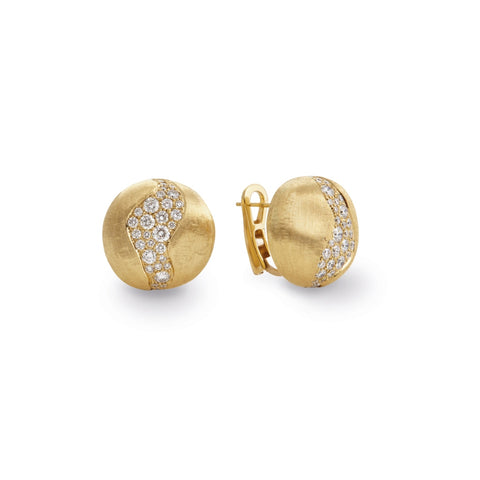 Marco Bicego® Africa Collection 18K Yellow Gold and Diamond Extra Large Stud Earrings