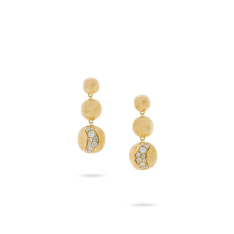 Africa Constellation Short Graduated Diamond Drop Earrings