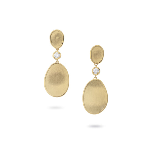 Lunaria Gold and Diamond Small Drop Earrings