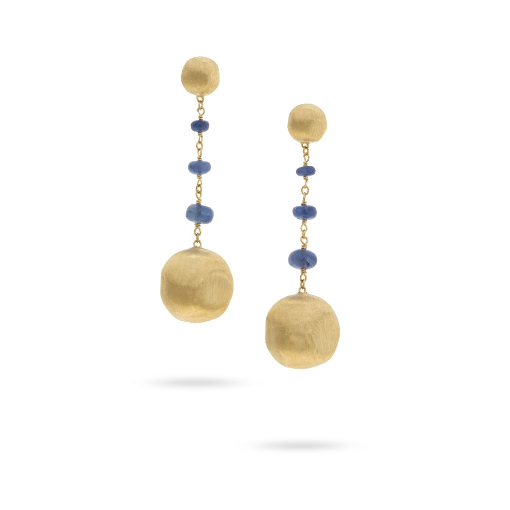 Marco Bicego® Unico Collection 18K Yellow Gold and Sapphire Earrings