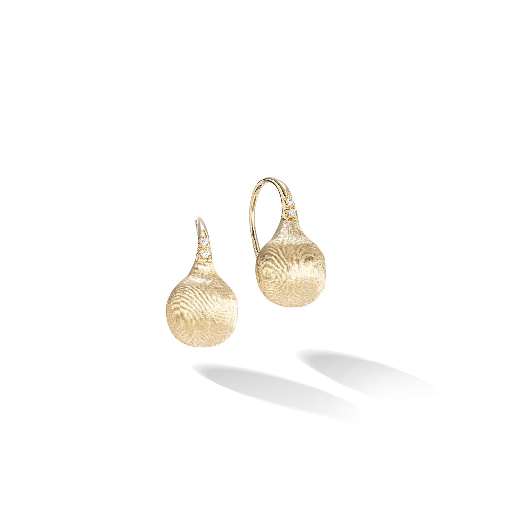 Marco Bicego® Africa Collection 18K Yellow Gold and Diamond Small French Wire Earrings