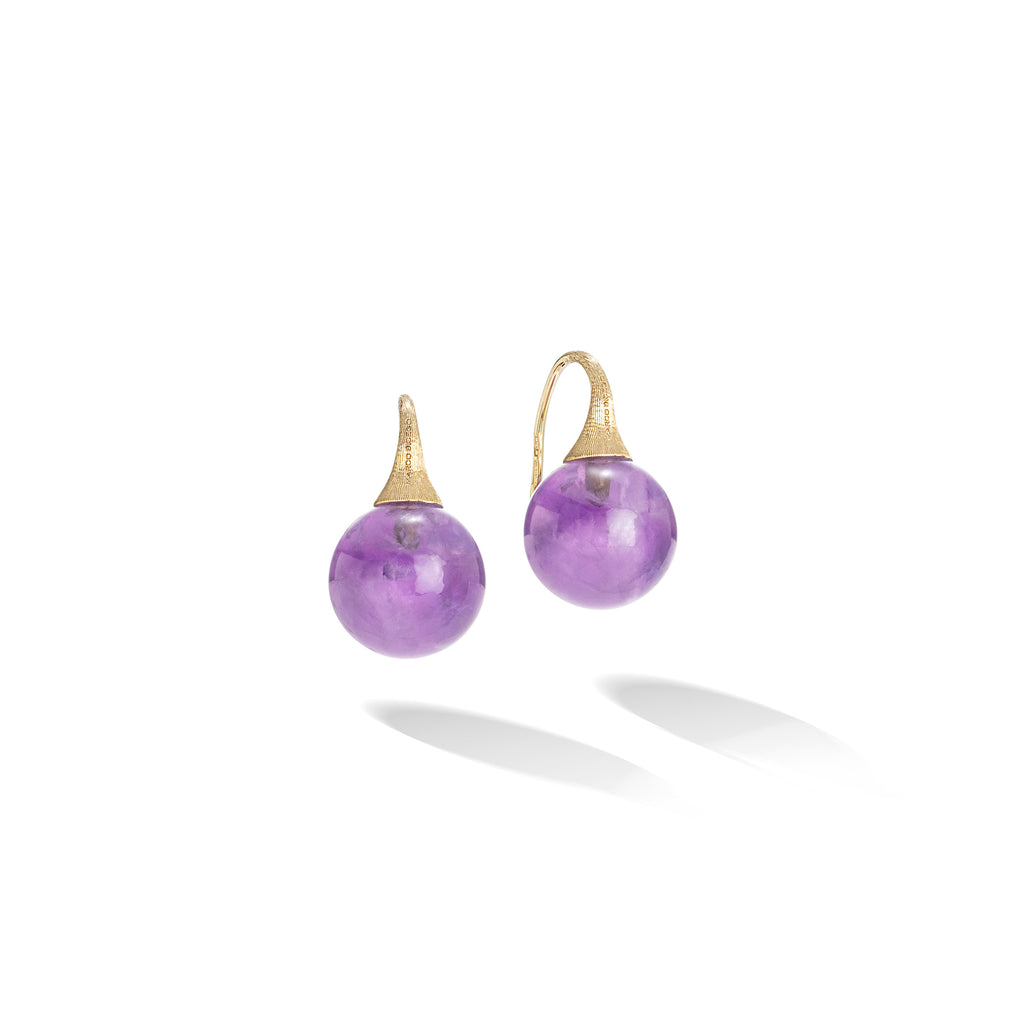 Marco Bicego® Africa Boule Collection 18K Yellow Gold and Amethyst French Wire Earrings