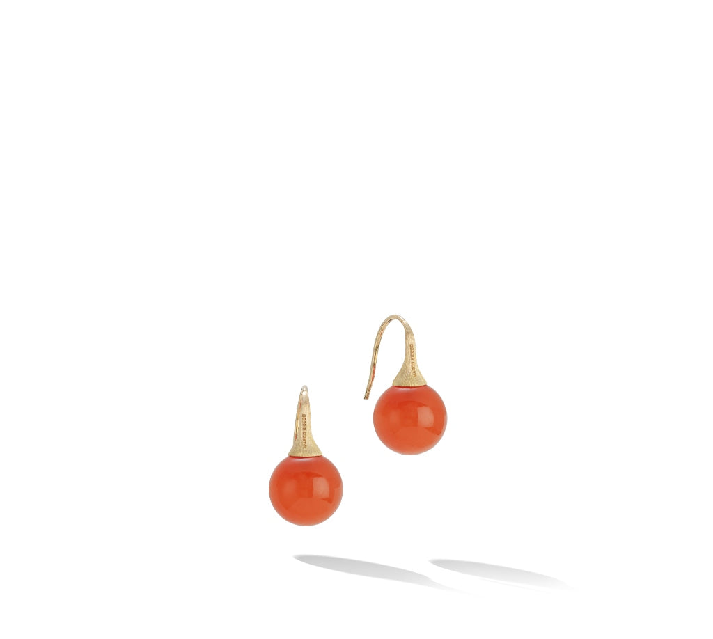 Marco Bicego® Africa Boule Collection 18K Yellow Gold and Carnelian French Wire Earrings