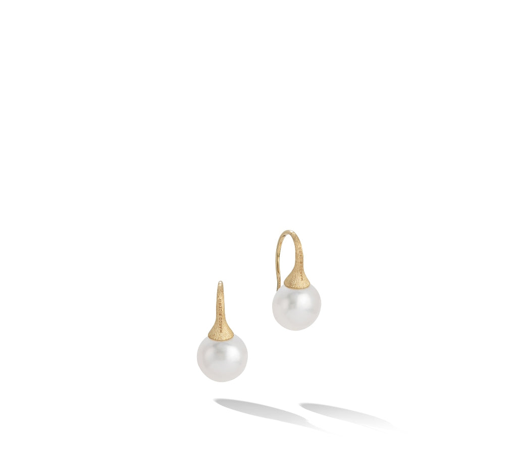 Marco Bicego® Africa Collection 18K Yellow Gold and Pearl French Wire Earrings