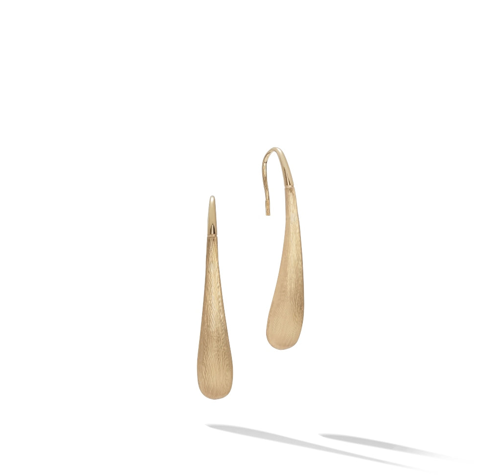 Marco Bicego® Lucia Collection 18K Yellow Gold Small Modern Teardrop Earrings