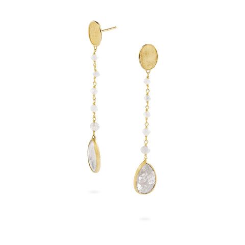 Marco Bicego® Unico Collection 18K Yellow Gold Grey Diamond Drop Earrings