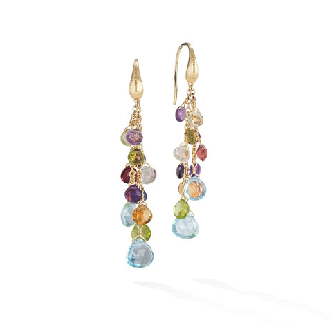 Marco Bicego® Paradise Collection 18K Yellow Gold Mixed Gemstone Multi Strand Earrings