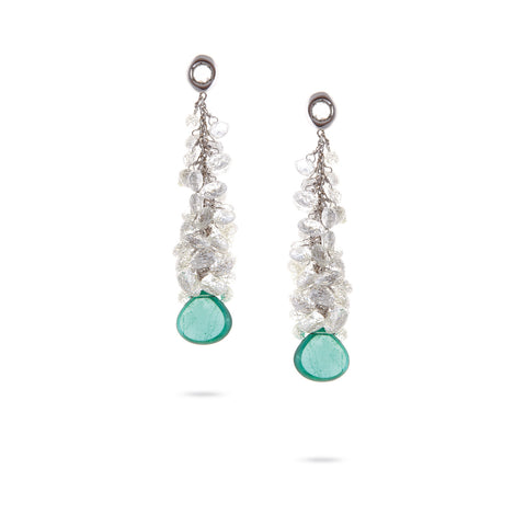 Unico White Gold & Emerald with Diamond Earrings
