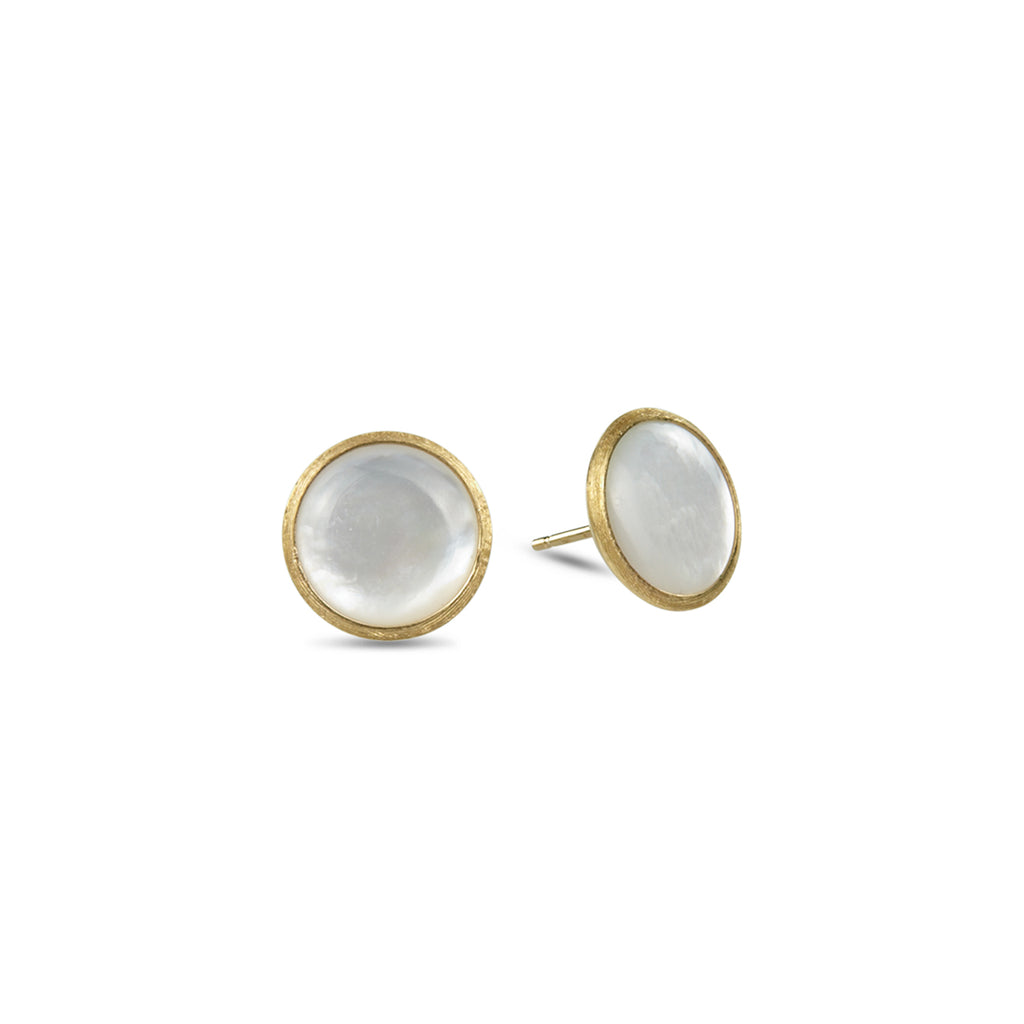 Jaipur White Mother of Pearl Stud Earrings