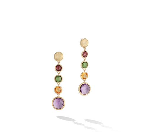 Marco Bicego® Jaipur Color Collection 18K Yellow Gold Mixed Gemstone Drop Earrings