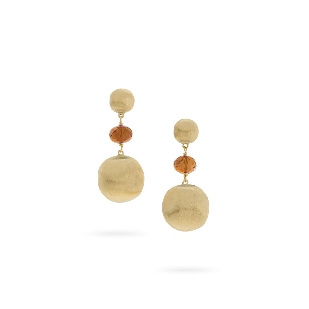 Africa with Citrine Drop Earrings