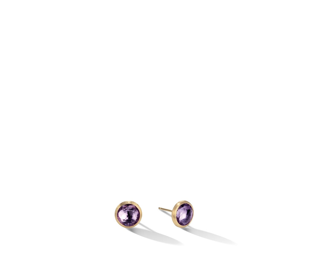 Marco Bicego® Jaipur Color Collection 18K Yellow Gold Amethyst Stud Earrings
