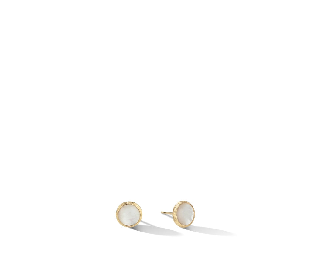 Marco Bicego® Jaipur Color Collection 18K Yellow Gold Mother Of Pearl Stud Earrings