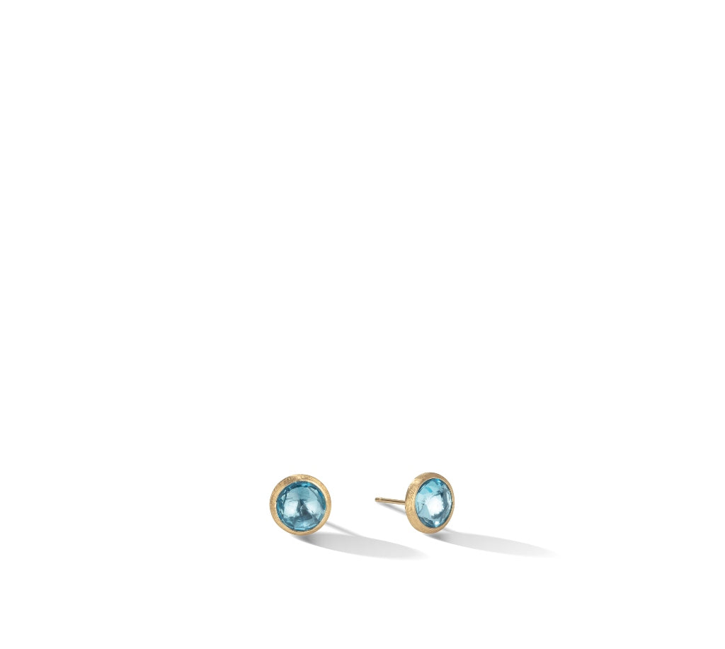 Marco Bicego® Jaipur Color Collection 18K Yellow Gold Blue Topaz Stud Earrings