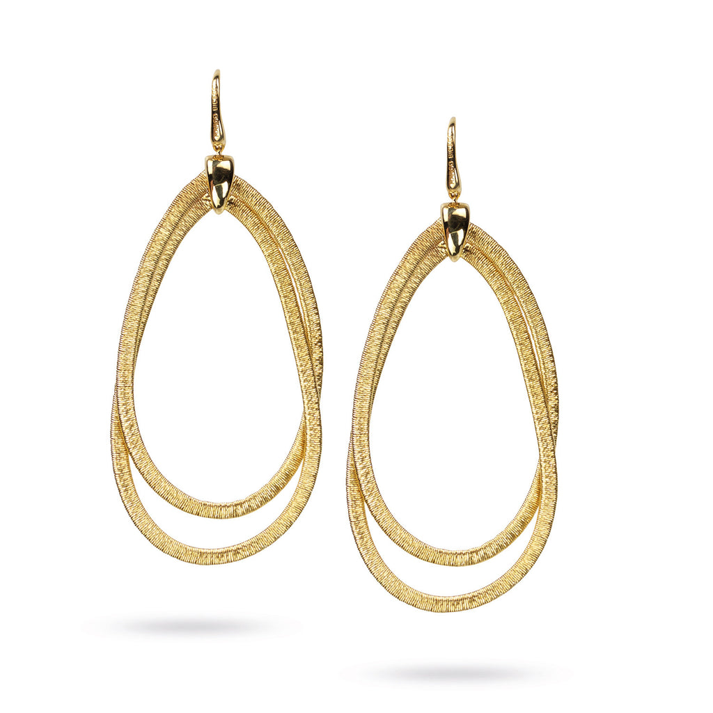 Cairo Yellow Gold Large Drop Earrings
