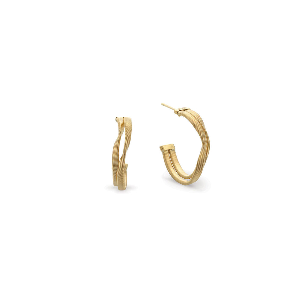 Marrakech Gold Two Row Hoop Earrings