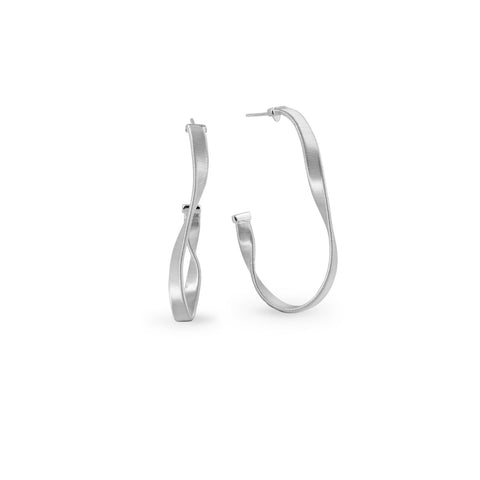 Marrakech Supreme White Gold Hoop Earrings
