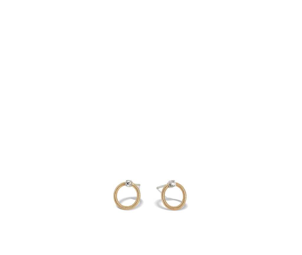 Marco Bicego® Bi49 Collection 18K Yellow Gold and Diamond Small Circle Stud Earrings