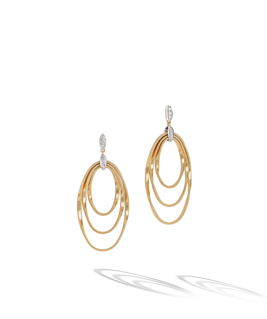 Marco Bicego® Marrakech Onde Collection 18K Yellow Gold and Diamond Concentric Earring