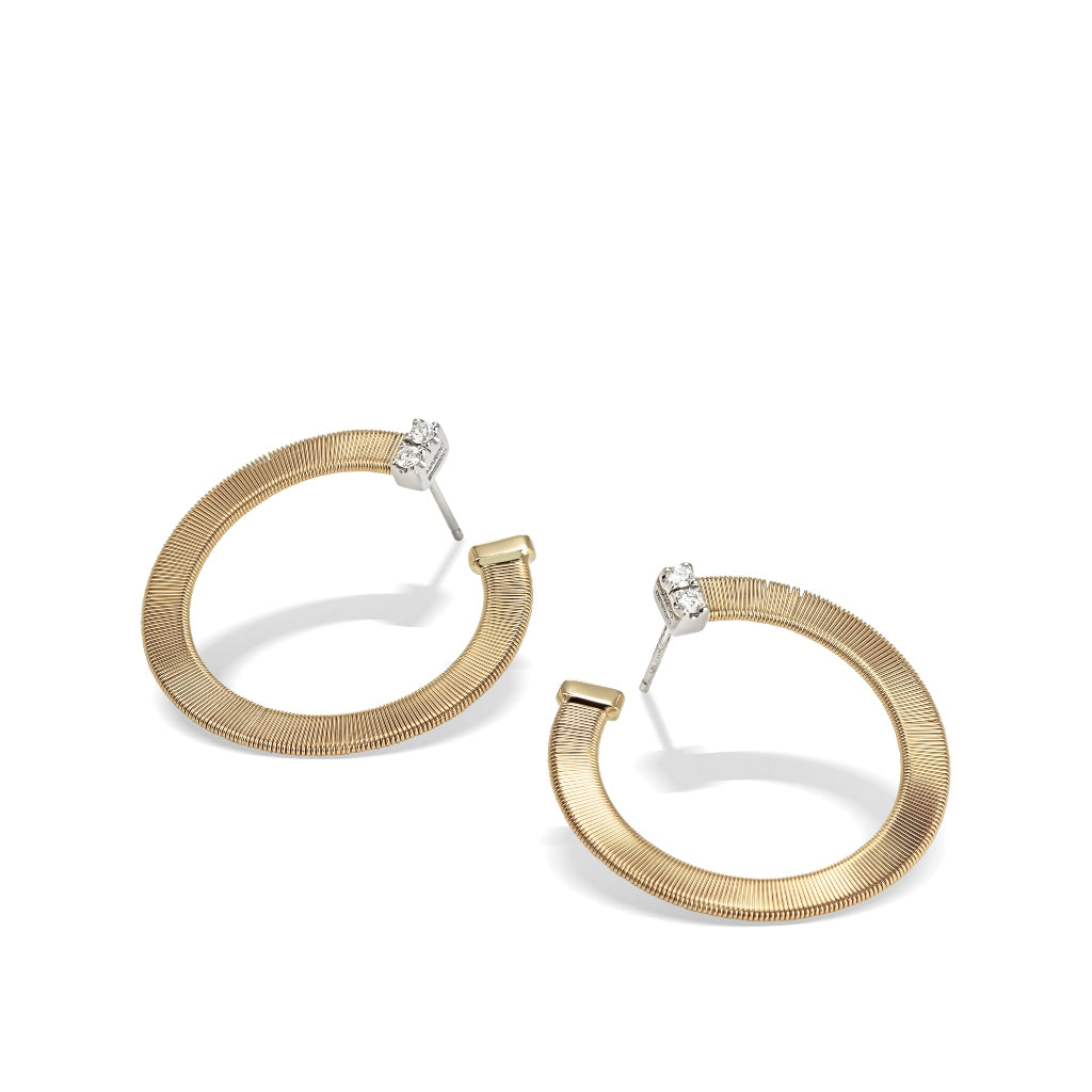 Marco Bicego® Masai Collection 18K Yellow Gold and Diamond Large Wrap Hoops