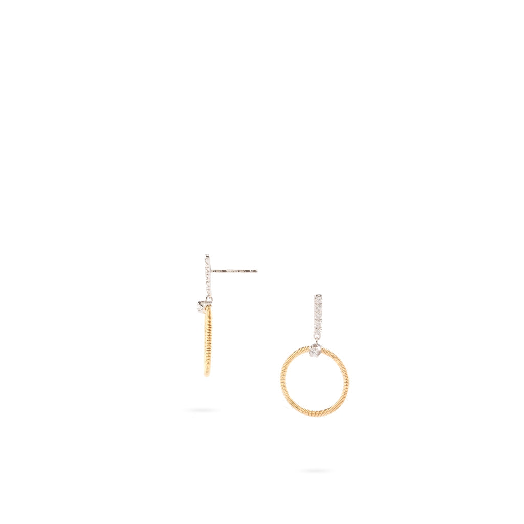 Marco Bicego® Bi49 Collection 18K Yellow Gold and Diamond Small Circle Drop Earrings