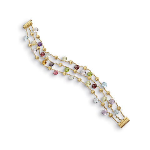 Paradise Mixed Stone Three Strand Bracelet