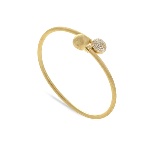 Africa Gold and Diamond Pave Kissing Bangle