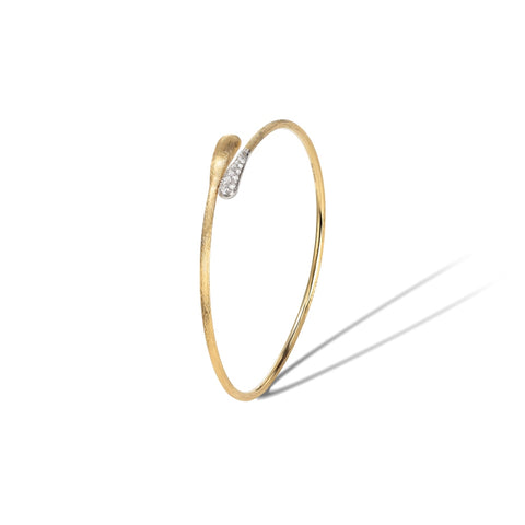 Marco Bicego® Lucia Collection 18K Yellow Gold and Diamond Hugging Cuff