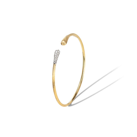 Marco Bicego® Lucia Collection 18K Yellow Gold and Diamond Kissing Cuff