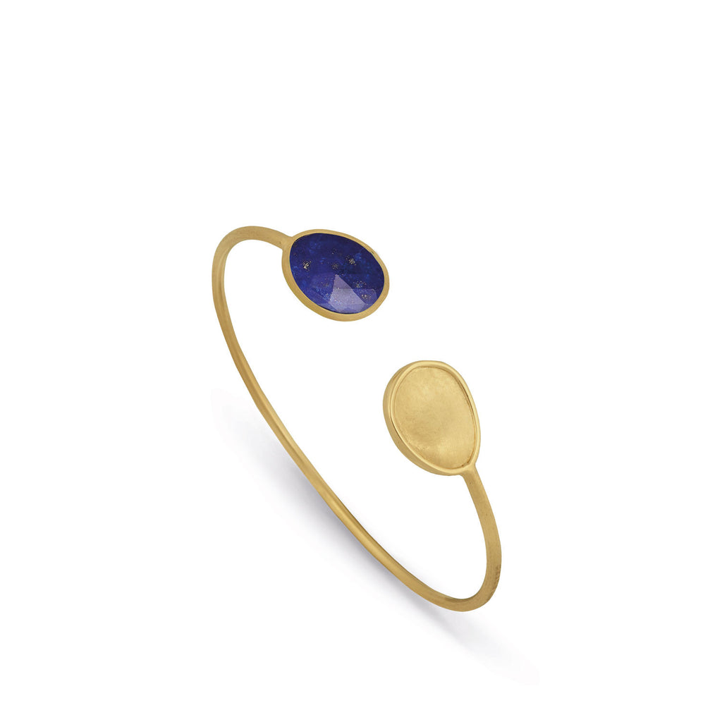 Lunaria Gold & Lapis Hugging Bangle