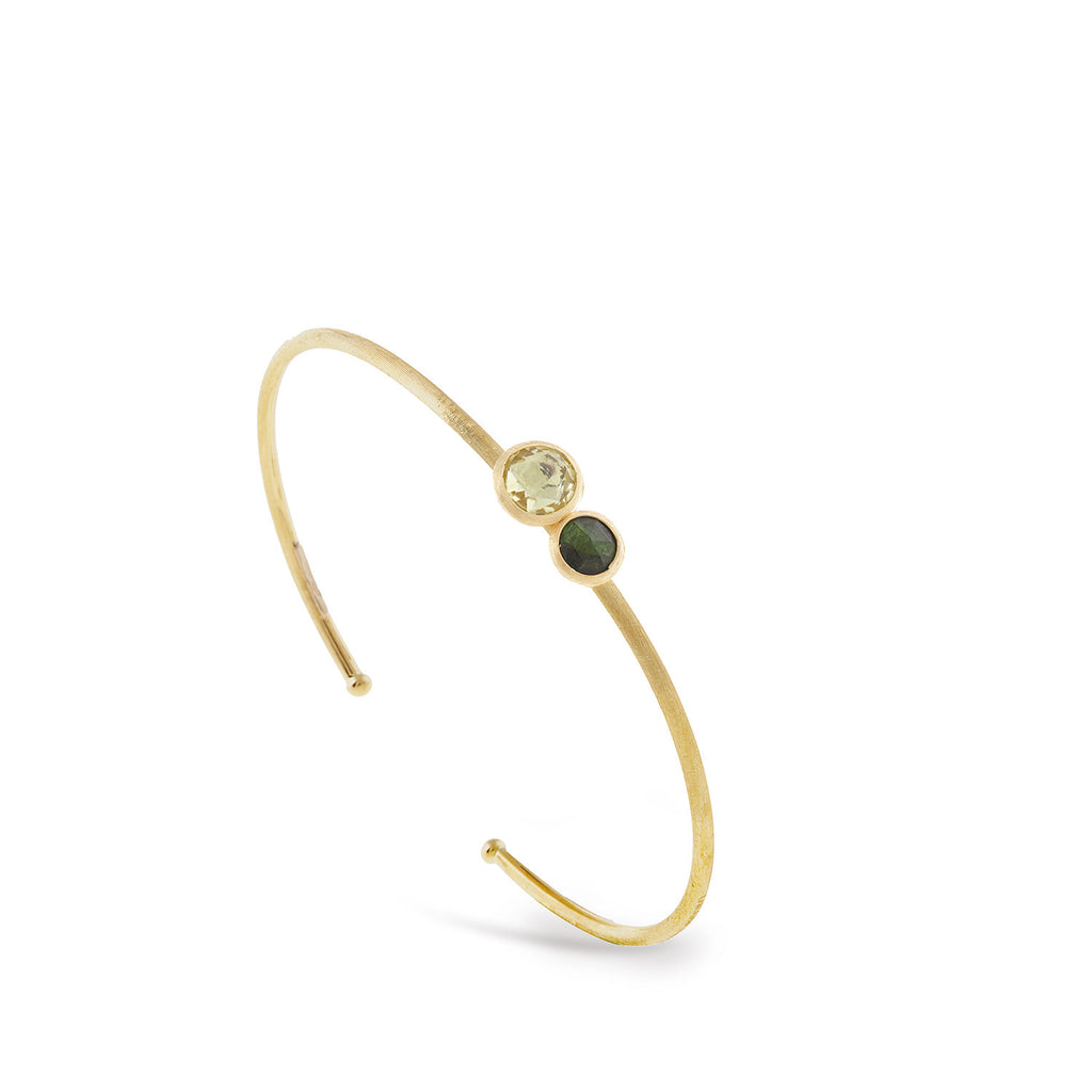Jaipur Lemon Citrine and Green Tourmaline Bangle