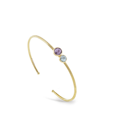Jaipur Amethyst and Blue Topaz Bangle