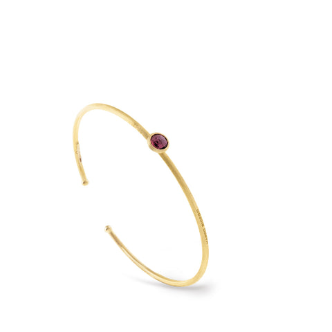 Jaipur Single Pink Tourmaline Bangle