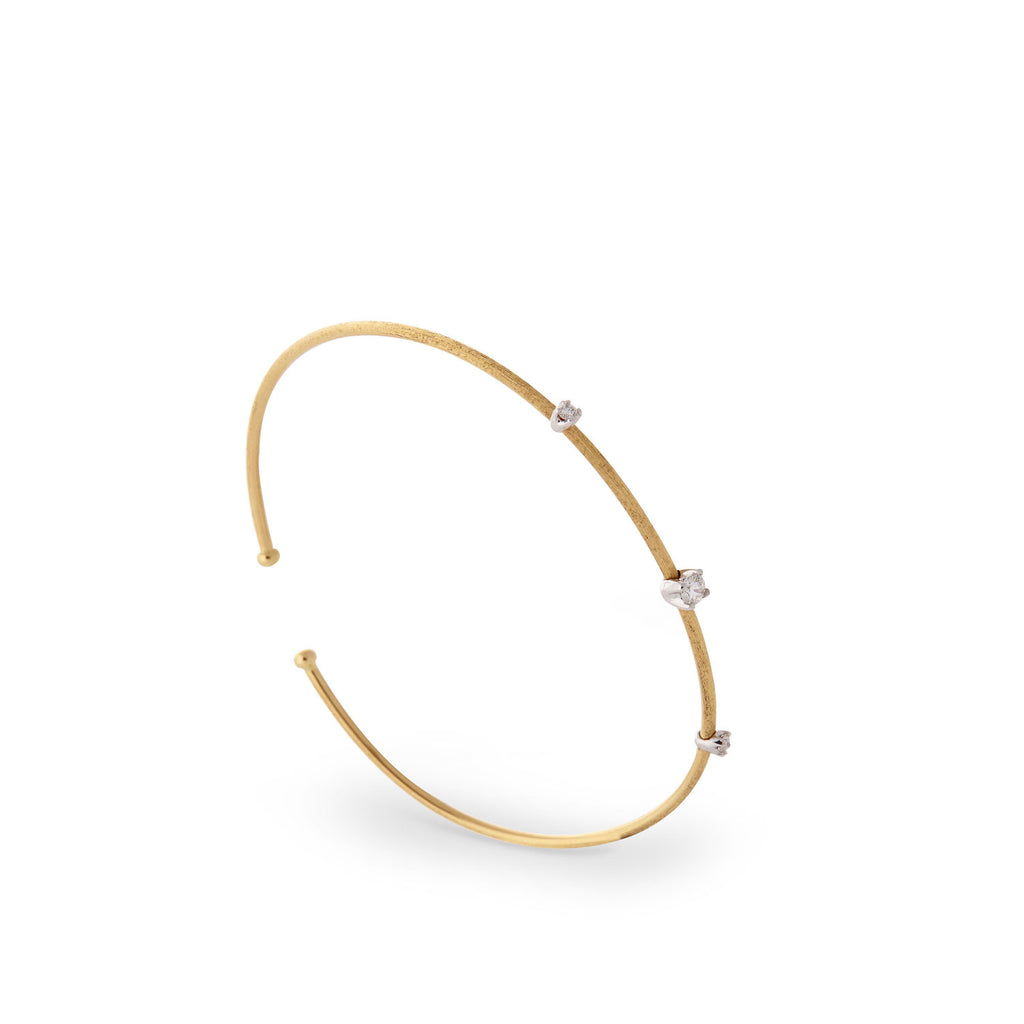Luce Gold & Three Diamond Bangle  - Exclusive