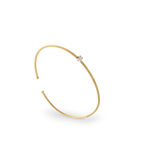 Luce Gold & Single Diamond Bangle - Exclusive