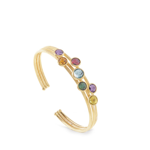 Jaipur Mixed Stone Three Strand Cuff