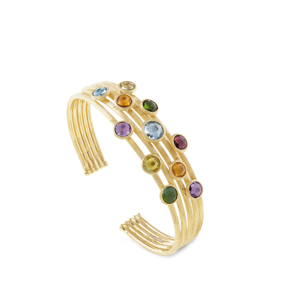 Jaipur Mixed Stone Five Strand Cuff