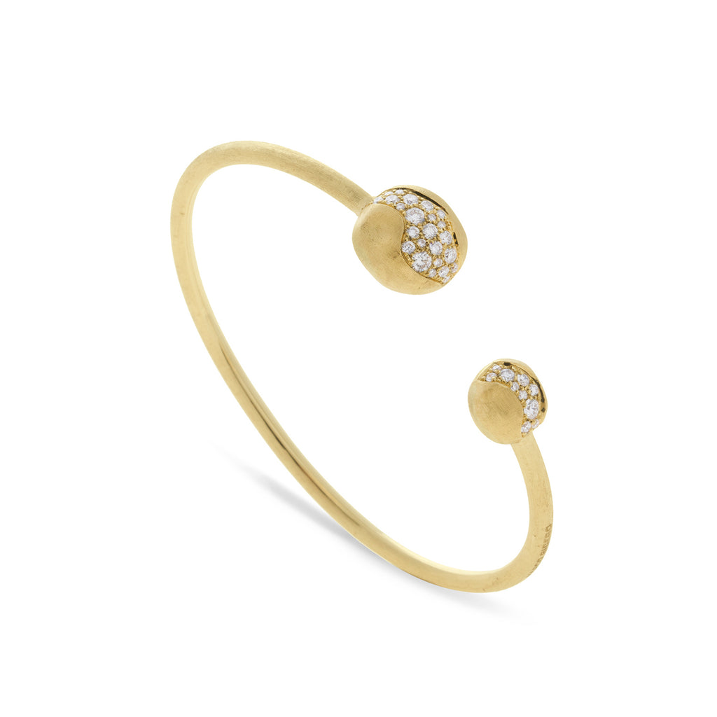 Marco Bicego® Africa Collection 18K Yellow Gold and Diamond Large Kissing Bangle