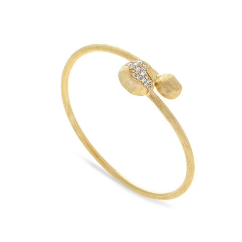 Marco Bicego® Africa Collection 18K Yellow Gold and Diamond Hugging Bangle