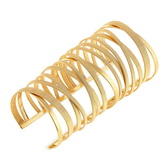 Masai 15th Anniversary Cuff in Yellow Gold