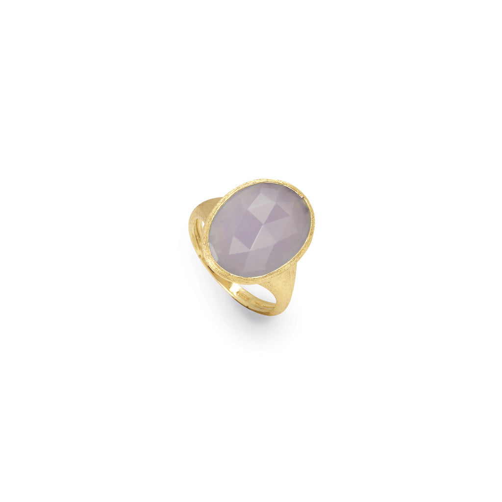 18K Gold Chalcedony Ring