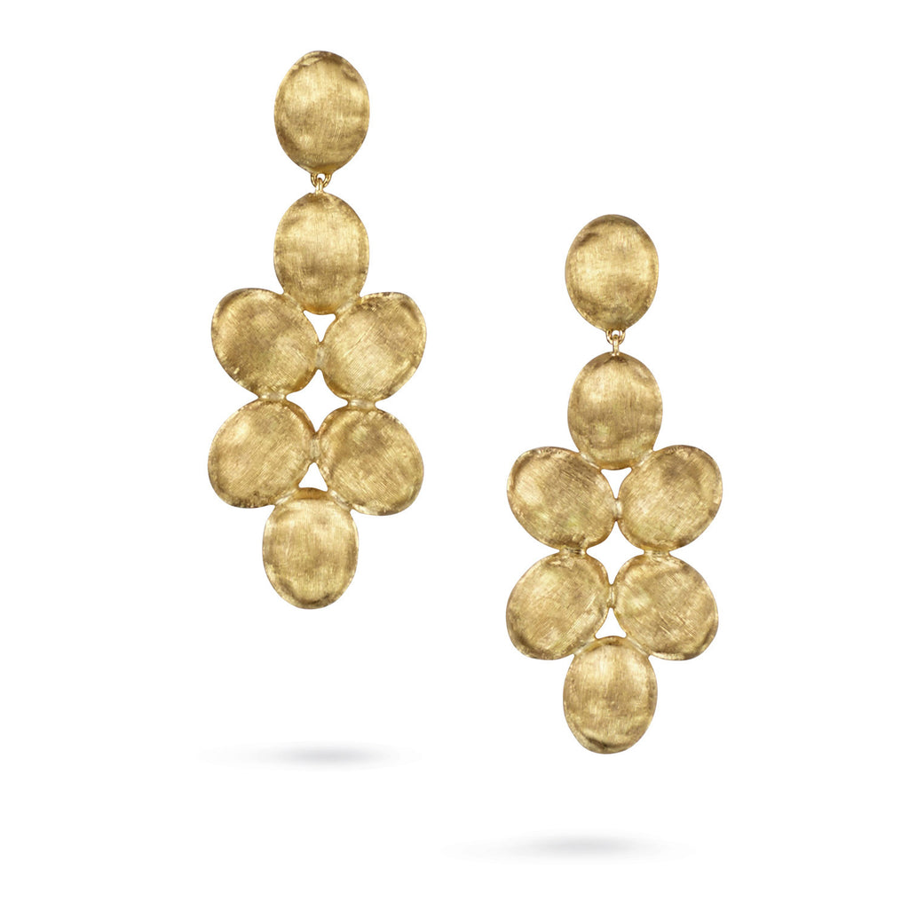 18K Gold Chandelier Earrings