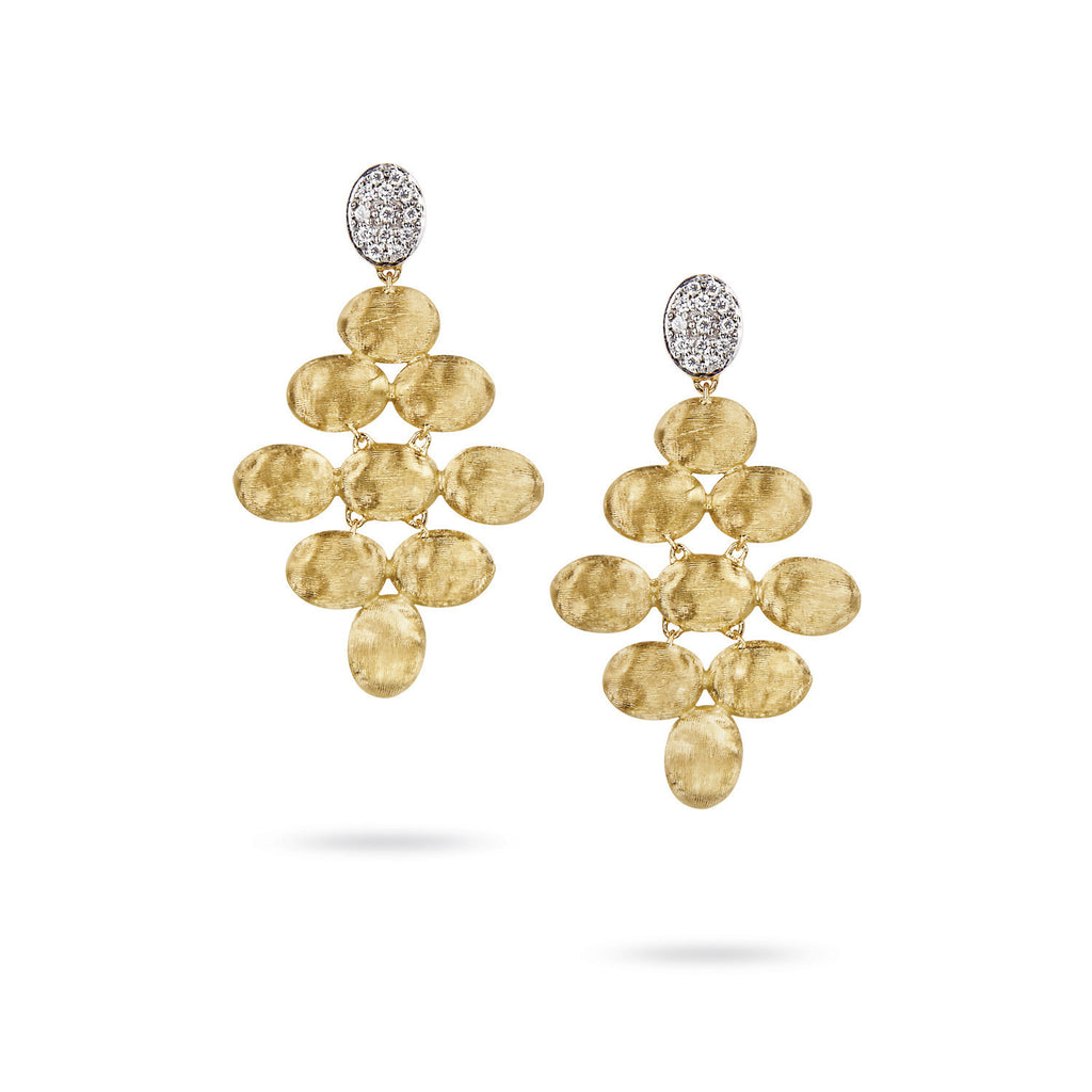 18K Gold & Diamond Earrings