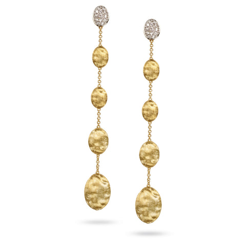 Marco Bicego® Siviglia Collection 18K Yellow Gold and Diamond Long Drop Earrings