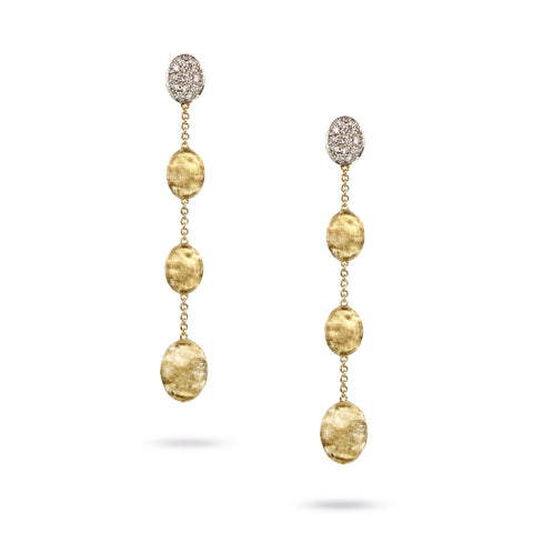 Marco Bicego® Siviglia Collection 18K Yellow Gold and Diamond Four Drop Earrings