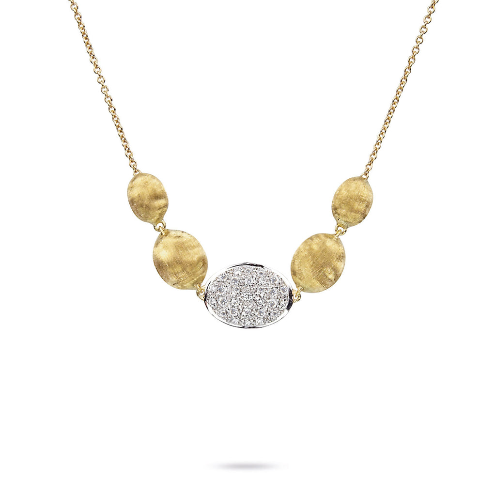 Marco Bicego Siviglia 18K Gold & Pavé Diamond Pendant Necklace