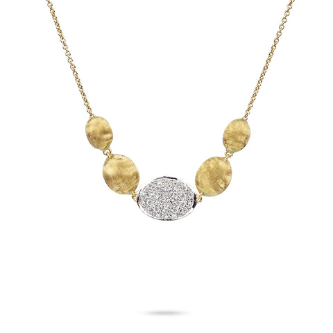 Marco Bicego® Siviglia Collection 18K Yellow Gold and Diamond Necklace