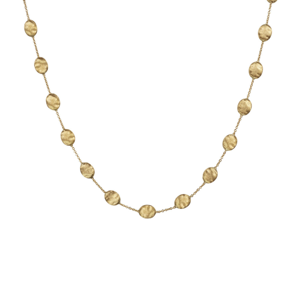 18K Gold Large Bead Necklace