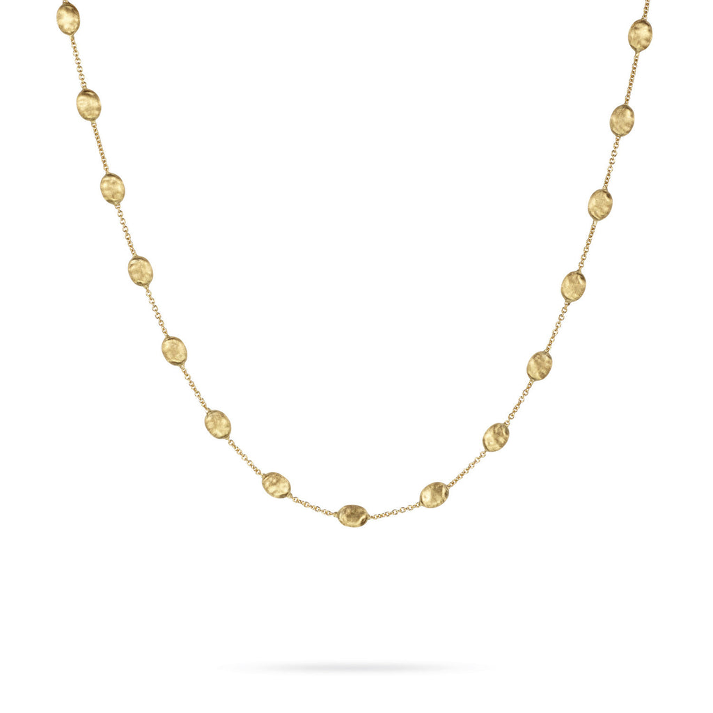 18K Gold Medium Bead Necklace