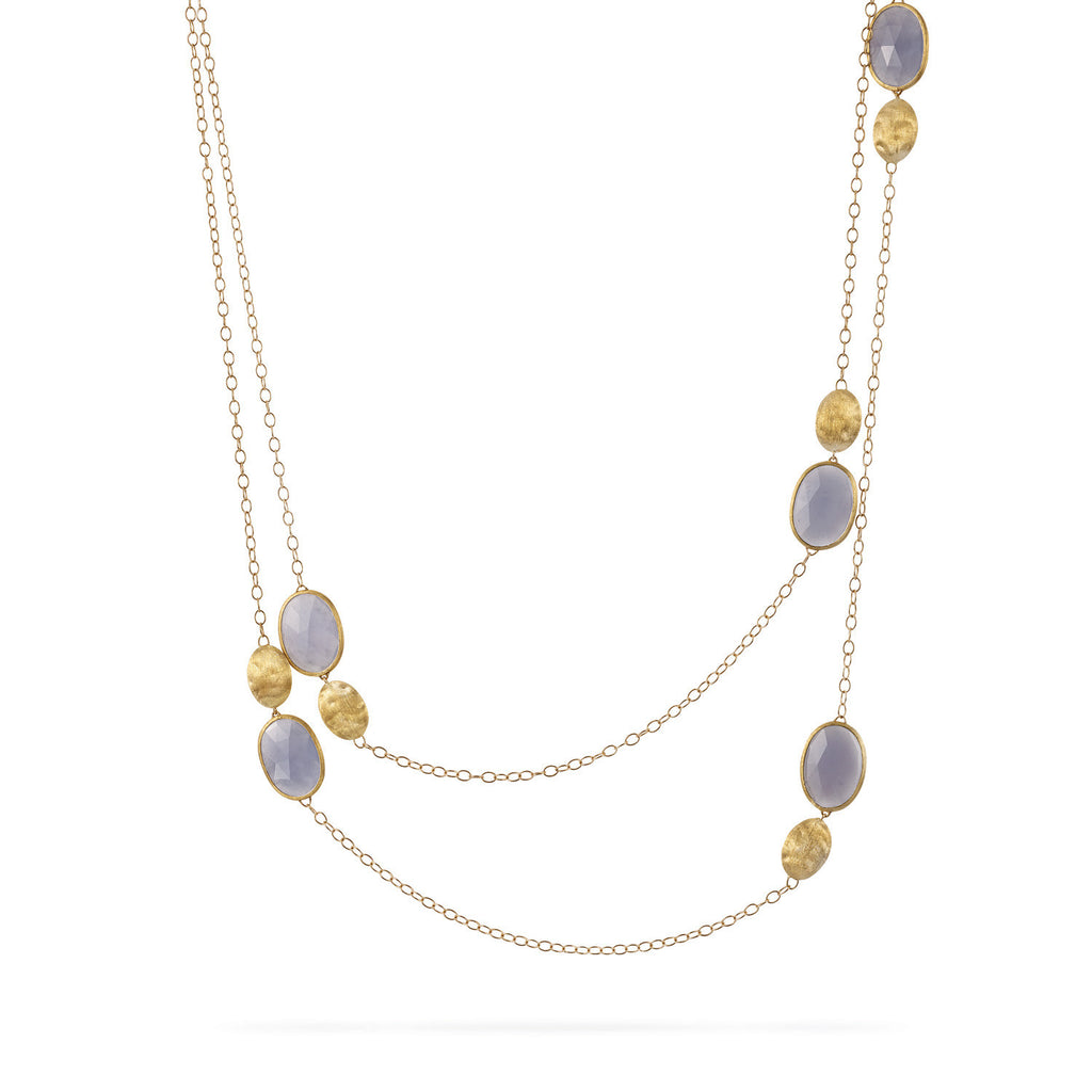 18K Gold Chalcedony Necklace
